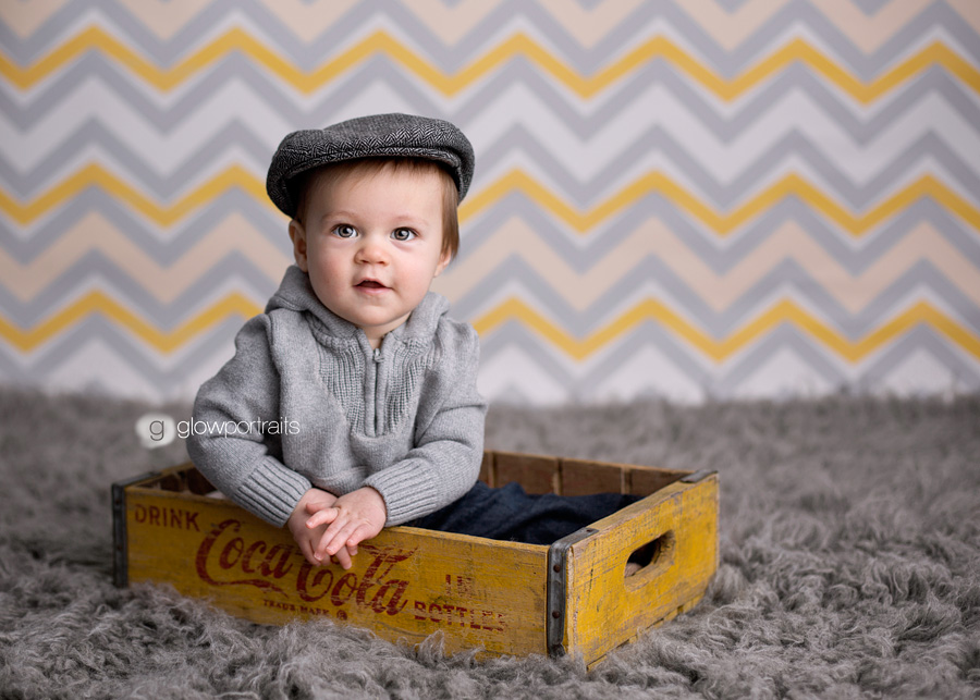 baby in box, chevron