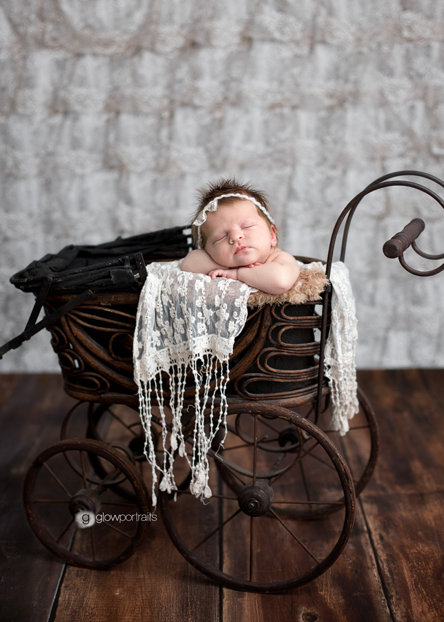 newborn in stroller