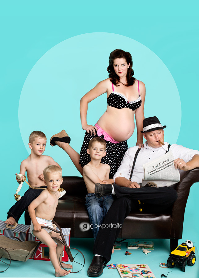 maternity pin up session
