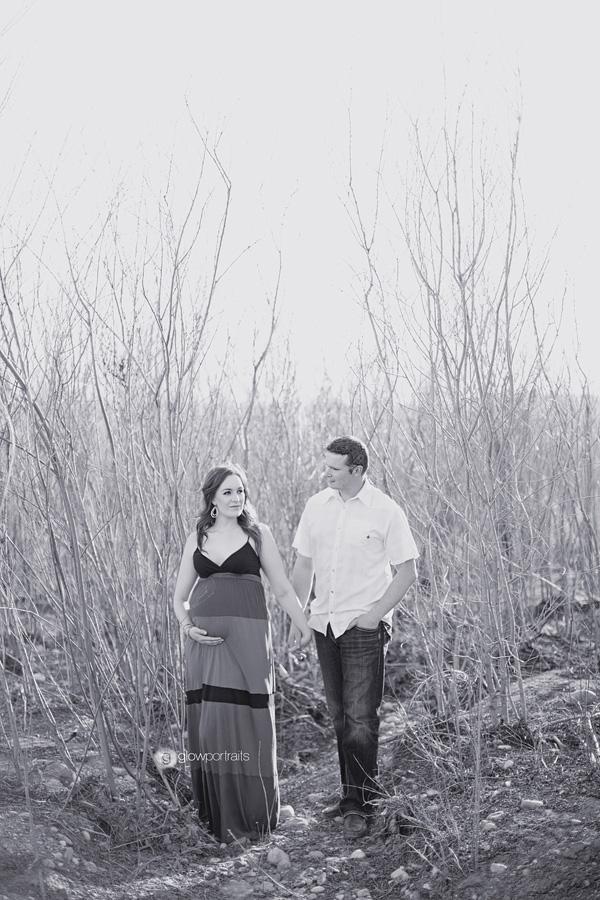 couple walking in trees
