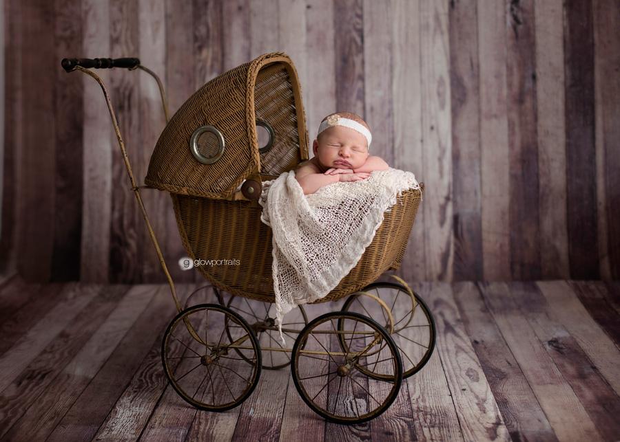 newborn in carriage